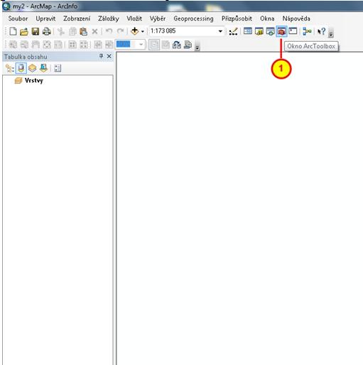 Tlačítko pro spuštění/vypnuti ArctTolboxu